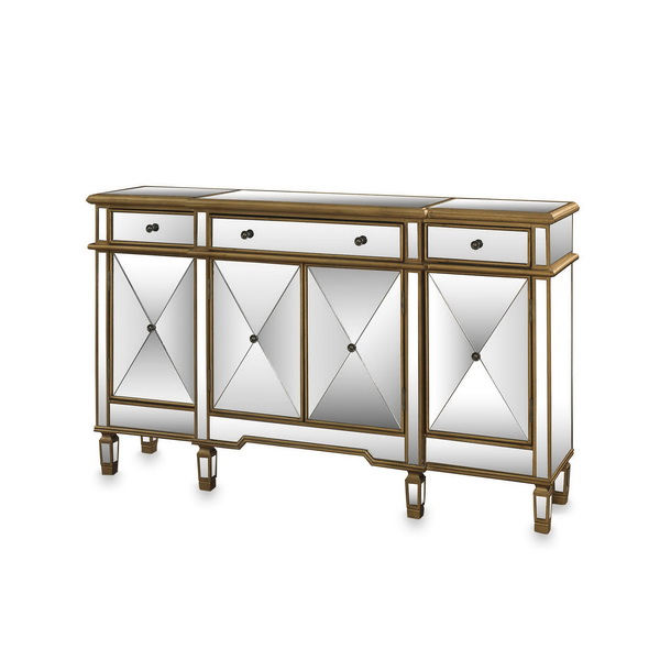 660002 Modern mirrored buffet