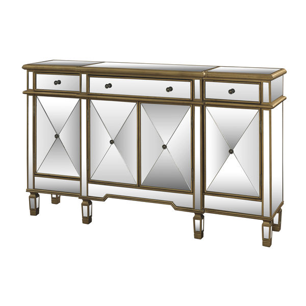 660002b Modern mirrored buffet
