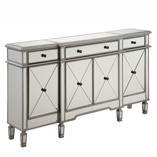 660002c Modern mirrored buffet
