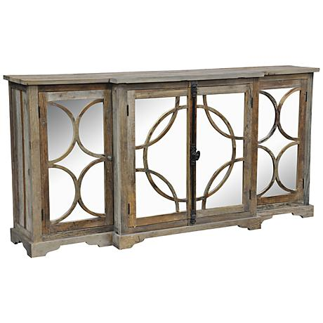 660042 French style display cabinet