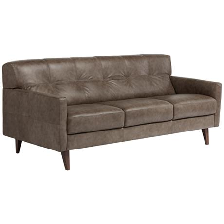 SFL00004 3 seats leather sofa