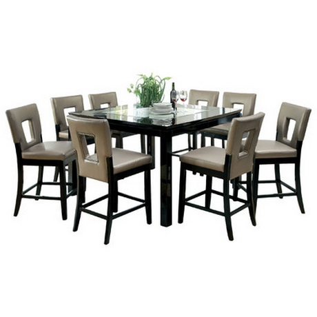 DT00180 tempered glass dining table