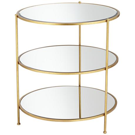ET00002 Hotel gold end table