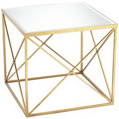 ET00003 Hotel gold end table