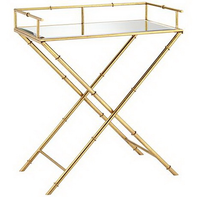 ET00004 Hotel gold end table