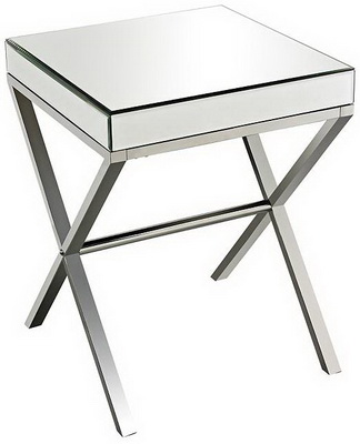 ET00304 Steel end table with marble tops/tempered glass