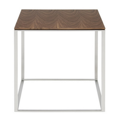 ET00316 Steel end table with marble tops/tempered glass