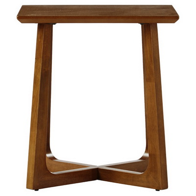 ET00318 Steel end table with marble tops/tempered glass