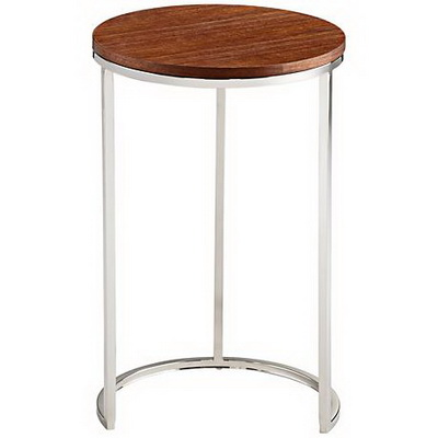 ET00396 Steel end table with marble tops/tempered glass