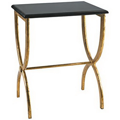 ET00412 Steel end table with marble tops/tempered glass