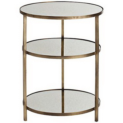 ET00419 End table with marble tops/tempered glass