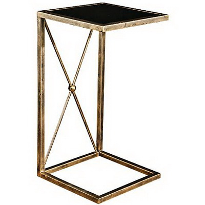 ET00433 End table with marble tops/tempered glass